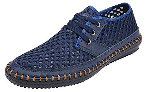 Lightweight Mesh Breathable Blue Poseidon Dark Walking Men's Shoes Casual Water wqRXgffnP