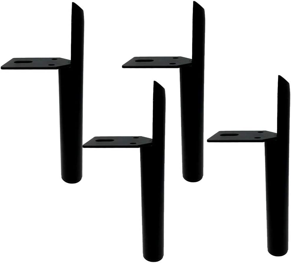 APAN Metal Sofa Feet Support Legs,lron Furniture Legs,Replacement Bathroom Cabinet Legs,Table Legs,TV Cabinet Feet,Couch Legs,Hardware Cabinet Legs ? 4,Durable and Not Rust(Matte black13cm 5.1in)