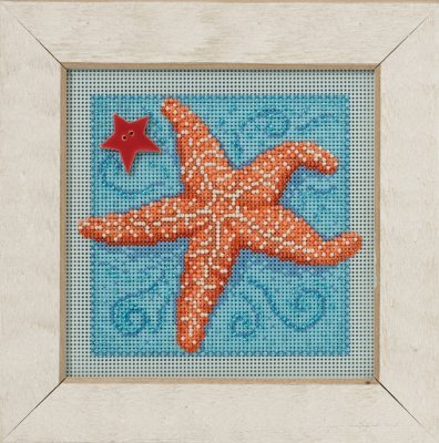 Starfish Beaded Counted Cross Stitch Kit Mill Hill 2016 Butt