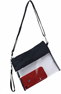 Y&R Direct Clear Bag Crossbody Bag Clear Purse Clear Clutch Stadium Approved PVC