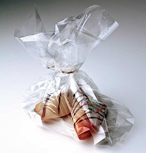 Bar Caramel Cookie Twist (ClearBags 4 x 9.5 Clear Treat Bags | Cello Party Favor Bags | Perfect for Candy, Cookies, and More | Gusset Plastic Bags for Every Occasion | FDA Approved for)