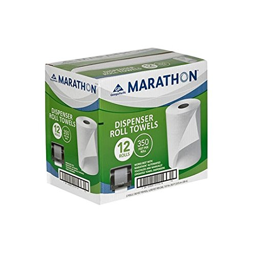 Marathon Dispenser Roll Towels 12 Rolls for Marathon Commercial Kitchen Bathroom Towel Dispensers Bulk Case 4,200 ft. by Marathon
