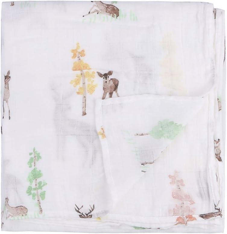 paquete de 2 unidades Manta de muselina de bamb/ú para beb/é reci/én nacido dise/ño de dinosaurios y tropicales de muselina de bamb/ú verde Dinosaurio y Tropical