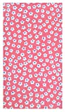 Home & Kitchen Small Flowers Cotton Guest Check Presenter & Holder with Plastic Cover