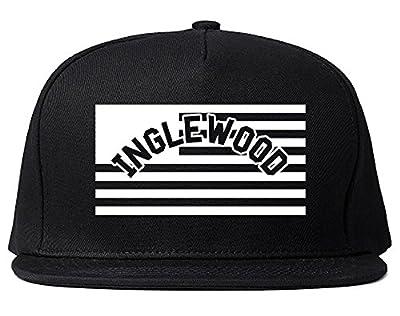 City Of Inglewood with United States Flag Snapback Hat Cap