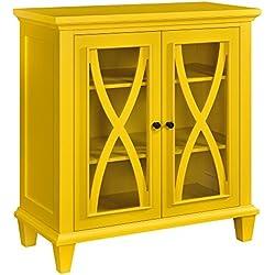 Ameriwood Home Altra Ellington Double Door Accent Cabinet, Yellow