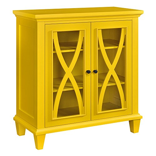 Cute Double Door Yellow Cabinet