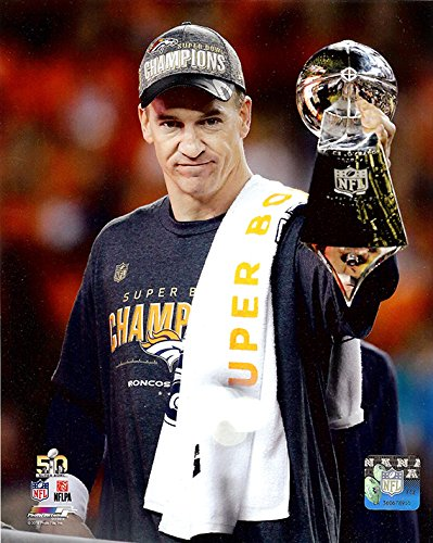 (The Denver Broncos Peyton Manning During Super Bowl 50, 8x10 Photograph Picture)