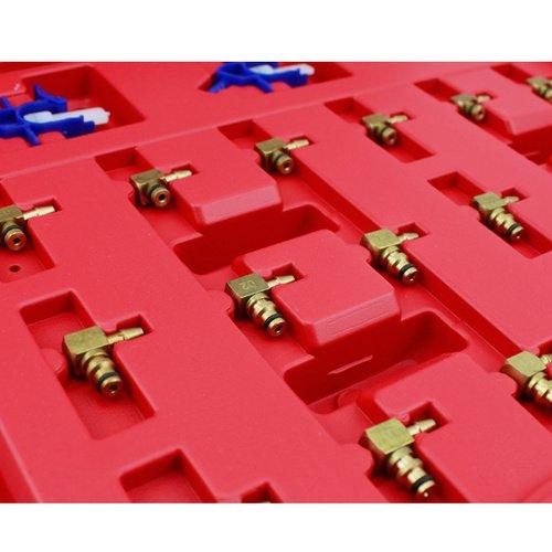 VINGO/®6 Cylinder Diesel Fuel Flow Injector Flow Test Meter Adaptor Set Common Rail Diesels