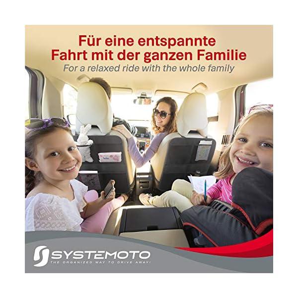 51Jv1sdsgVL Systemoto Autositz Organizer + Sonnenschutz Auto Baby mit UV Schutz (2er Set) - Kinder Rückenlehnentasche und…