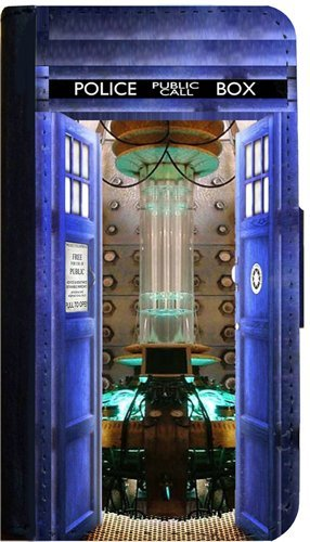 Samsung Galaxy S5 Case Tardis Behind the Door Flip Case Book Style Case & Amazon.com: Samsung Galaxy S5 Case Tardis Behind the Door Flip Case ...