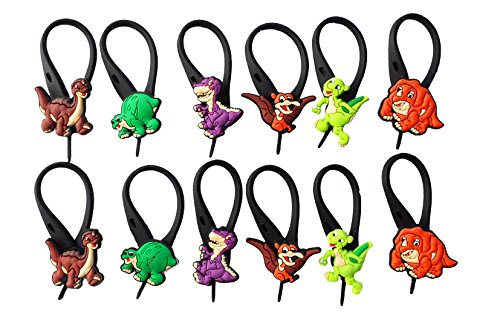 Chomper Costume Time Land Before (AVIRGO 12 pcs Soft Zipper Pull Charms for Backpack Bag Pendant Jacket Set # 37-3 by)