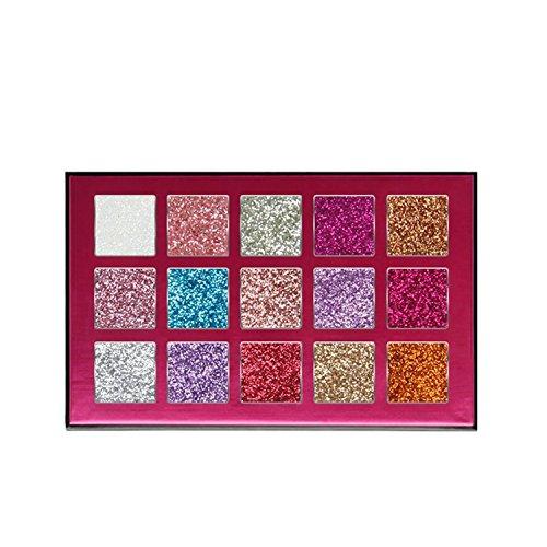 Allwon Glitter Eyeshadow Pressed Glitter Makeup Palette High