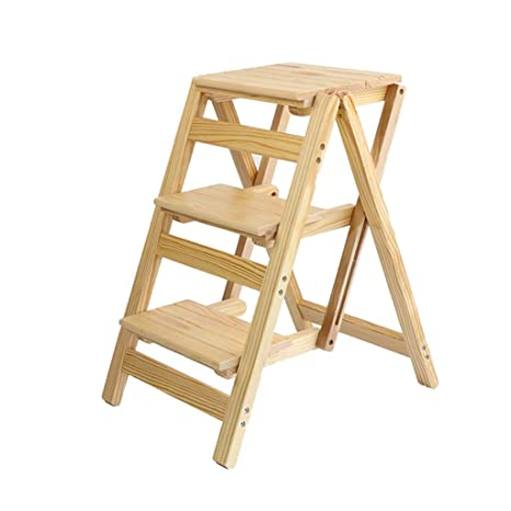 Miraculous Amazon Com Qqxx Wooden Practical Steps 2 Step Ladder Caraccident5 Cool Chair Designs And Ideas Caraccident5Info