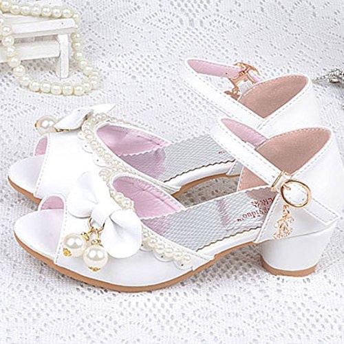 461b647fca08d Yy.f YYF Petite Fille Belle Sandale Chaussure de Princesse A Talon AVCE  Belle Faux Perles  Amazon.fr  Chaussures et Sacs