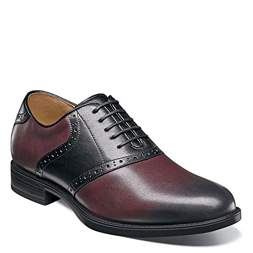 Oxfords Shoes Burgundy (Florsheim Men's Midtown Saddle Oxford Burgundy/Black 10 D US)
