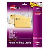 Etiquetas Transparente, Láser, Permanente, 1,7 x 4,4cm, 10 hojas, 60-up, 600 etiquetas