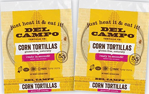 Del Campo Soft Corn Tortillas – 6 Inch Round 1 Lb. Bag. 100% Natural, Gluten Free, All-Corn Authentic Mexican Food. Serving Options: Wraps, Tacos, Quesadillas or Burritos. Kosher.16ct./(Pack of Two) (Serving Wrap)
