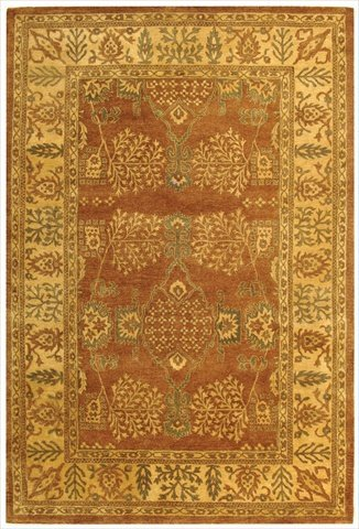 Safavieh Bergama Collection BRG190A Handmade Light Brown and Beige Premium Wool Area Rug (9' x 12')