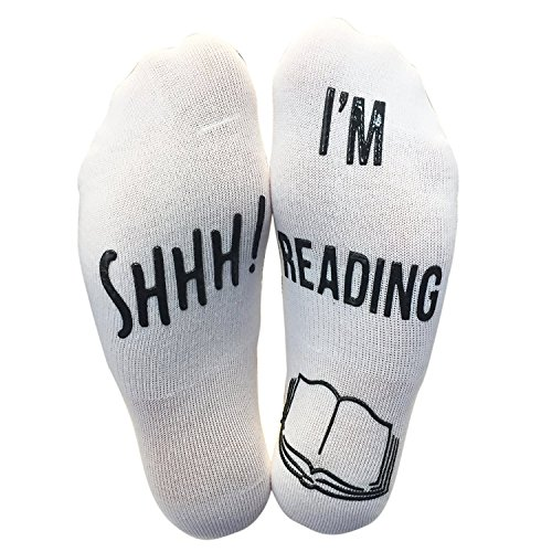 'Shhh I'm Reading' Funny Ankle Socks - Great Gift For Those People Who Love Books!