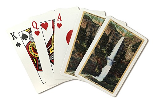 Columbia River, OR - Multnomah Falls and Benson Foot Bridge (Playing Card Deck - 52 Card Poker Size with Jokers) (Falls Columbia Multnomah River)