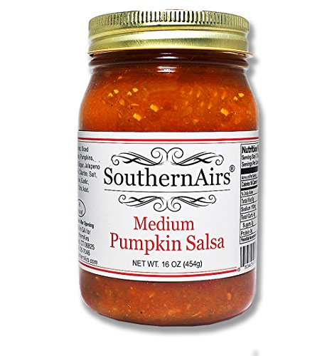 SouthernAirs Medium Pumpkin Salsa/Jalapeno / Tomato/Limited Fall Season Offer/Thanksgiving Treat / 16 ounce by SouthernAirs