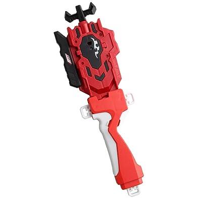 B Blesiya Burst Gyro Accessories Luchador Superior Doble Dirección Launcher + Grip Red: Juguetes y juegos