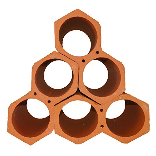 SomerTile RGDBOTCW Botellero Unglazed Terra Cotta Stackable Wine Rack, 5'' x 9.25'', Brown by SOMERTILE