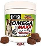 Cat Dry Skin Omega Maxx - High Potency Omega 3 Fish Oil Complex Soft Chew Treat Supplement for Dogs and Cats Prescription Strength Skin and Coat Formula for Dry Itchy Skin Brain Immune Heart Hip and Joint Health