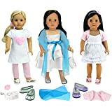Sophia's Sweet Spring Dress Set for 18 Inch Dolls Includes Three Dresses and Accessories
