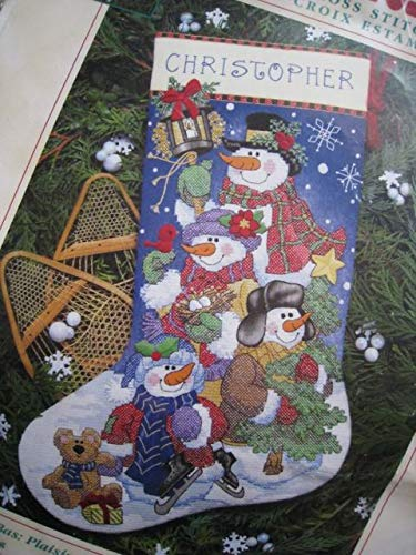 Christmas Santa Snow Fun Stocking Stocking Counted Cross Stitch Kit Craft Decoration 8684 12in x 17in Gift
