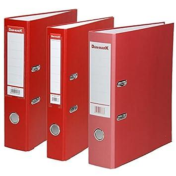Carpeta DIN A4 PP plástico o papel - Archivador Carpeta de color rojo, varios, PP plástico 75 mm 25 Unidades: Amazon.es: Oficina y papelería