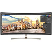 LG 38UC99-W Curved Widescreen 4K Ultra HD 2160p IPS LED AMD FreeSync Monitor