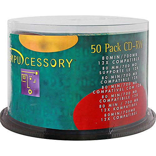 CCS72102 - Compucessory CD Rewritable Media - CD-RW - 12x - 700 MB - 50 Pack by Compucessory