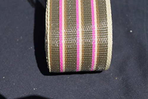 Wellington Re-Web Kit, 2 1/4 in wide, 72 feet; BROWN STRIPES with pink accent stripes Review