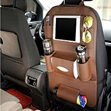 PU Leather Back Seat Car Decorate iPad and Tablet Holder Organizer