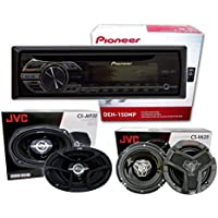Pioneer DEH-150MP+ 1 pair JVC CS-V628 6.5 2-way + 1 pair JVC CS-J6930 6x9 3-way(Package)
