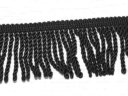 50mm Bullion Fringe Trimming Black - per metre Minerva Crafts