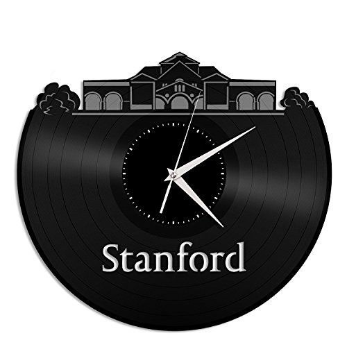VinylShopUS Stanford University Vinyl Wall Clock City Skyline Unique Gift Home Room | Unique Gift for Student| Home Decoration - Stanford Home Office