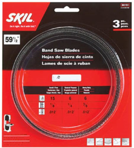 (SKIL 80151 59-1/2-Inch Band Saw Blade Assortment, 3-Pack)