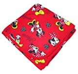 SheetWorld Flannel Receiving Blanket - Minnie Mouse Polka Dot - Made In USA