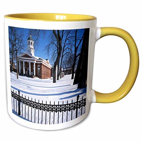 3dRose Danita Delimont - Charles Gurche - Courthouse - USA, Virginia, Leesburg, Loudoun County Courthouse. - 11oz Two-Tone Yellow Mug - Outlet Leesburg