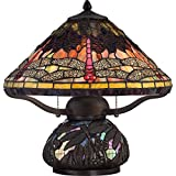 Quoizel TF1851TIB Tiffany Dragonfly Table Lamp - 2-Light - 150 Watts - Imperial Bronze (17
