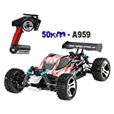 A959 Upgraded 540 Brush Motor High Speed 50km/h 1:18 4D 2.4G RC Car