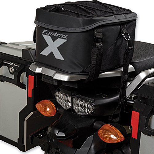 (Dowco Fastrax by 04738 Xtreme Series: Water Resistant Reflective Motorcycle Tail Bag, Black, 11 Liter Capacity)