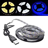 LED Strip Light Dicomi TV Back Lighting Bar White/Warm White/Blue 5V 2835 180SMD/300CM Strip Lights for Home,Kitchen,Christmas Decorations [Energy Class A+]