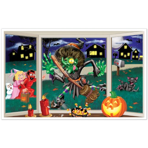 Beistle Crashing Witch Insta View, 3-Feet 2-Inch by 5-Feet -
