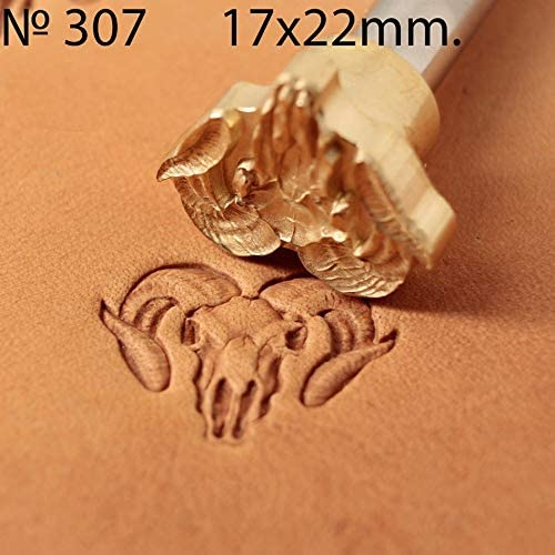 Herramienta de sello para manualidades de cuero sello de lat/ón #308