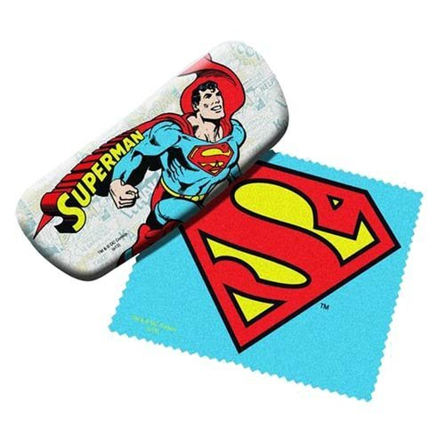 Superman Eyeglasses Case with Cleaning -