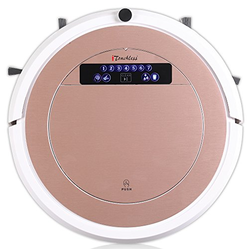iTouchless High-Power, Self-Charging Robotic Vacuum Cleaner with UV-C Sterilizer and HEPA Air Filter for Pet Fur and Allergens, Wet Mop for Hard-Surface Floors, Extra-large Bin Capacity, Rose Gold by iTouchless (Image #1)